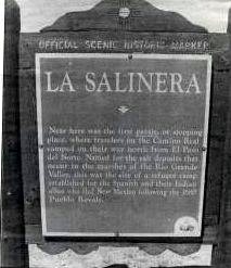 La Salinera, Camino Real paraje, or campsite, is located between Canutillo and Anthony.