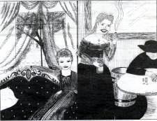 Drawing of the madams by Gabriela Guzman