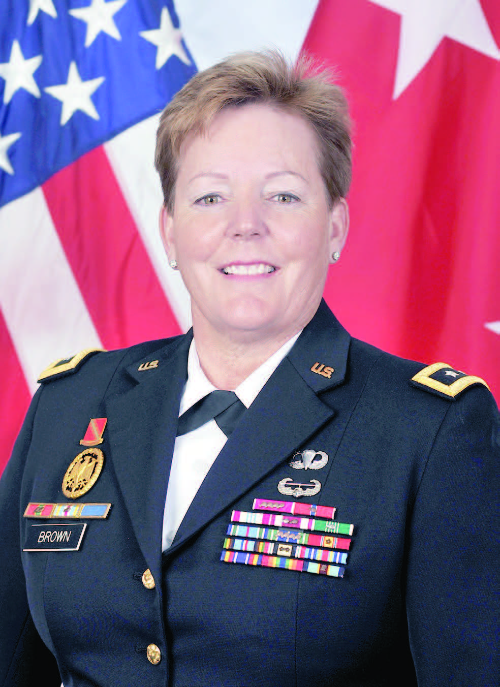 Color formal photo of Major General Heidi V. Brown