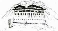 Paro Dzong drawing