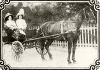 Mary Palmer, brothel owner in El Paso and friend in carriage