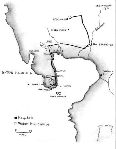 Map of Luzon's Bataan Peninsula