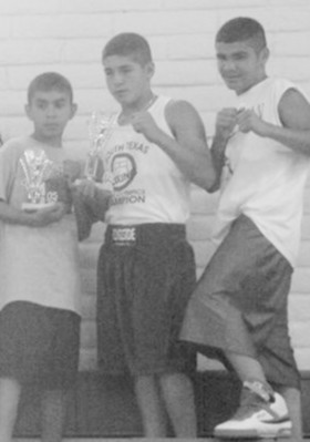 Boxers Marty Gutierrez, Ronnie Gutierrez and Marc Gutierrez