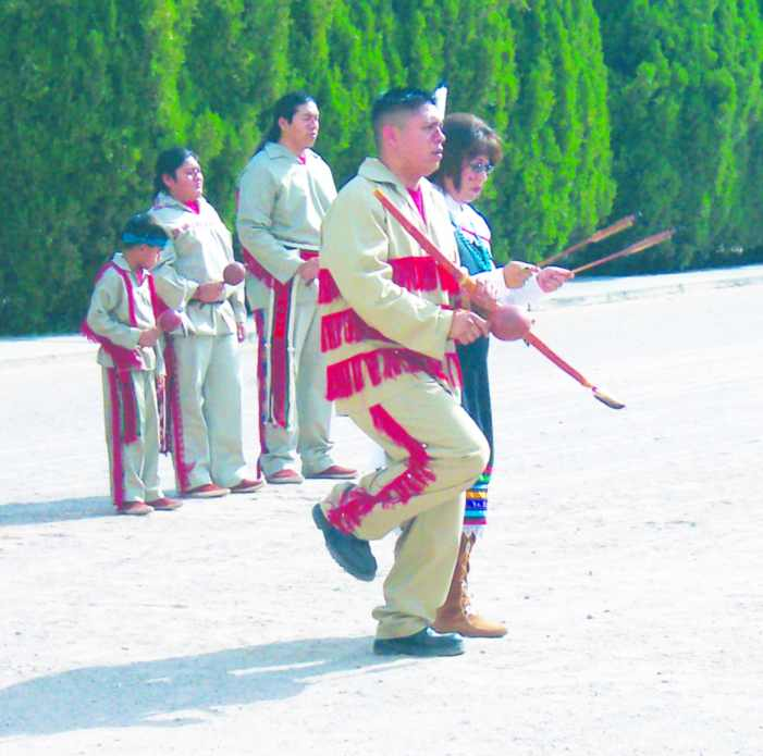 Pueblo dancers celebrate San Juan Day at the Church of Guadalupe in Tortugas