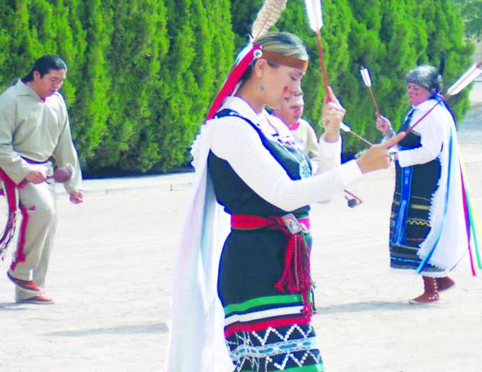 Pueblo dancers celebrate San Juan Day at the Church of Guadalupe in Tortugas