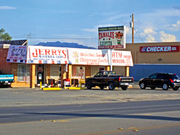 Lupita's Tamales and Jerry's Barber Shop,  Canutillo, Texas