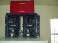 milk crates at La Tuna prison