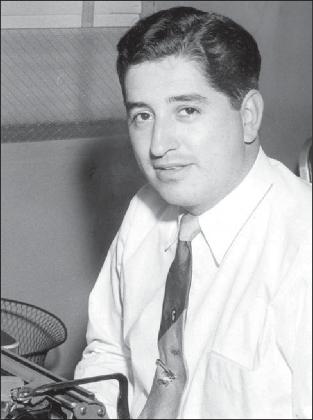 Ruben Salazar at Herald-Post desk