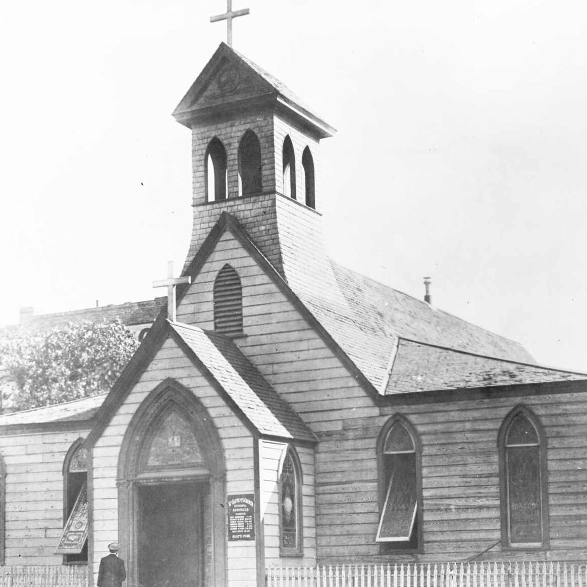 El Paso's Church of St. Clement, 1882.