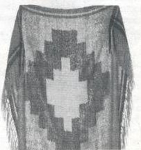 Woven lap robe of cotton