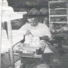 George Gonzalez at work in his Sunland Park Studio.