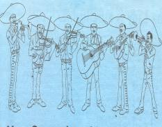 Drawing of mariachi group