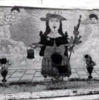 Mural of Santo Niño de Atocha located at Marmolejo Housing Complex