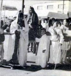 Procession around the cathedral in Juárez.