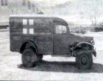 WW II era Army ambulance with Red Cross emblem
