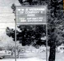 This sign and baseball field, formerly known as Delta Park, are the only public reminders of Company E's sacrifice and contribution to WWII.