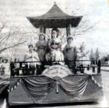 "Float entitled ""Springtime in Kyoto"" was 1st place winner in the National division of the 1936 Sun Bowl Parade."