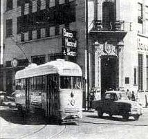 Trolley in the 1950's provided 10 cent tour of El Paso and Juarez, Mexico