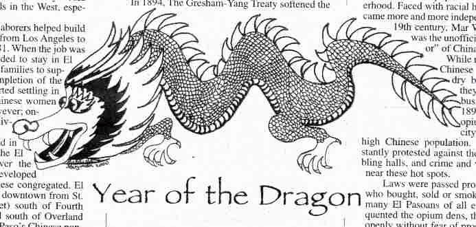 Year of the Dragon drawing