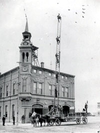 El Paso Fire Department historical: Hook and Ladder Company #1 crew drills