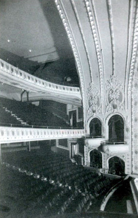 The elegant interior of the Old Texas Grand Theatre in 1917.