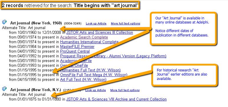 Art Journal record