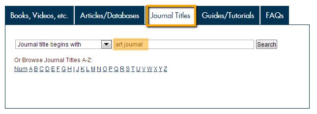 Journal Title Access