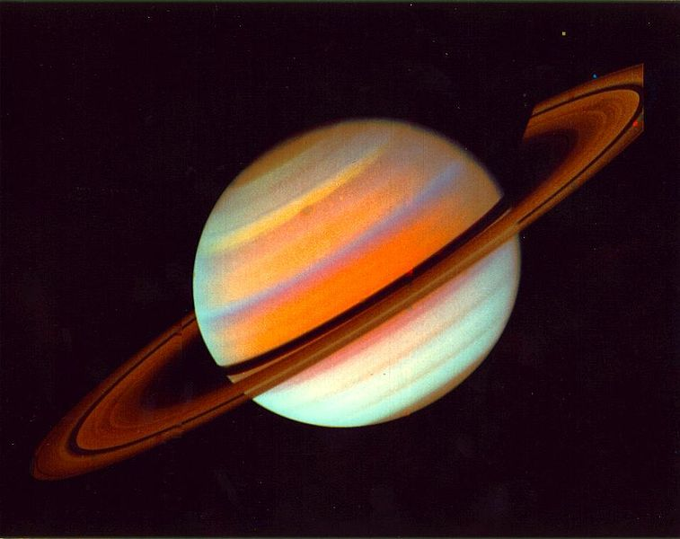 Saturn, from Voyager 1