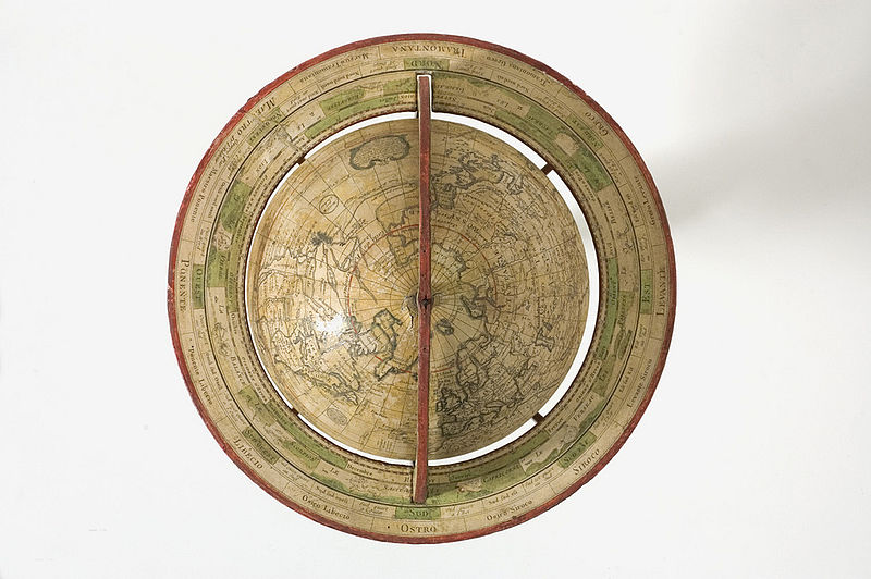 top view of a globe