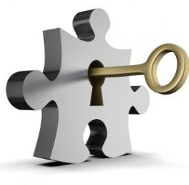 sleutel in sleutelgat