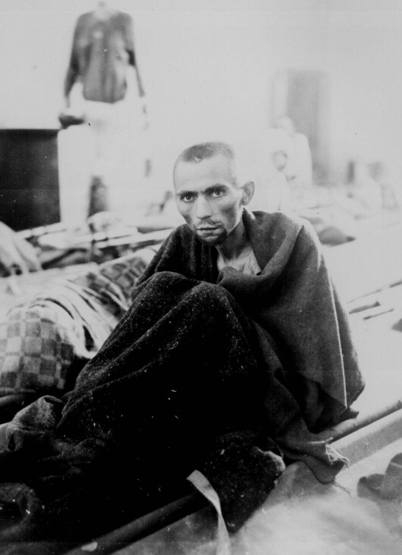 Starving Inmate of Camp Gusen, Austria