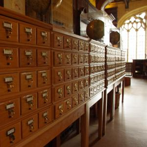 Picture of card catalogue
