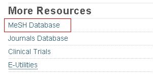 PubMed - MeSH Database
