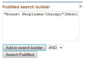 PubMed - zoeken op MeSH
