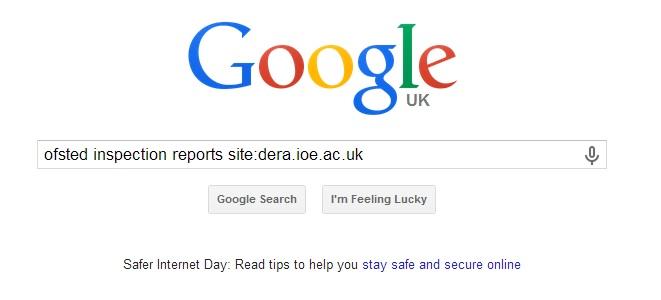 Google homepage.