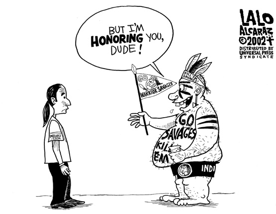 but Dude, I'm honoring you! (editorial cartoon)