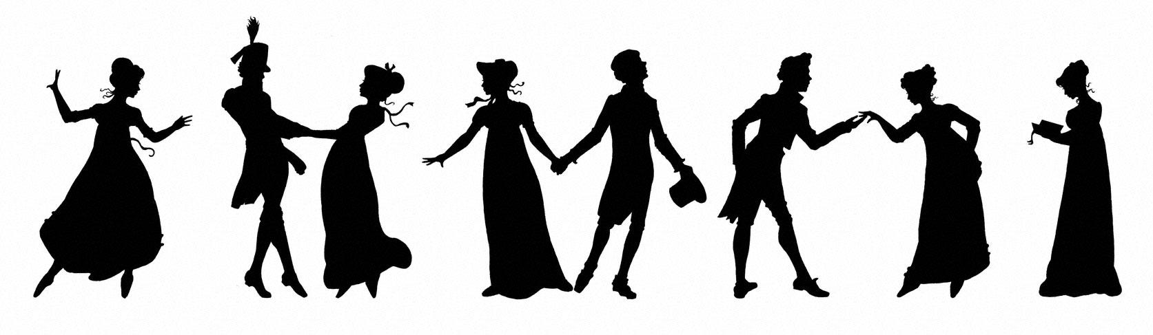silhouette Regency figures