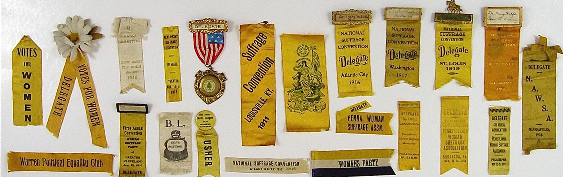 women's suffrage ribbons