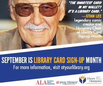 Stan Lee honorary chair ALA library card sign-up