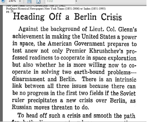 """Heading off a Berlin Crisis"""
