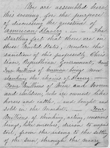 Susan B. Anthony Abolition Speech from Library of Congress