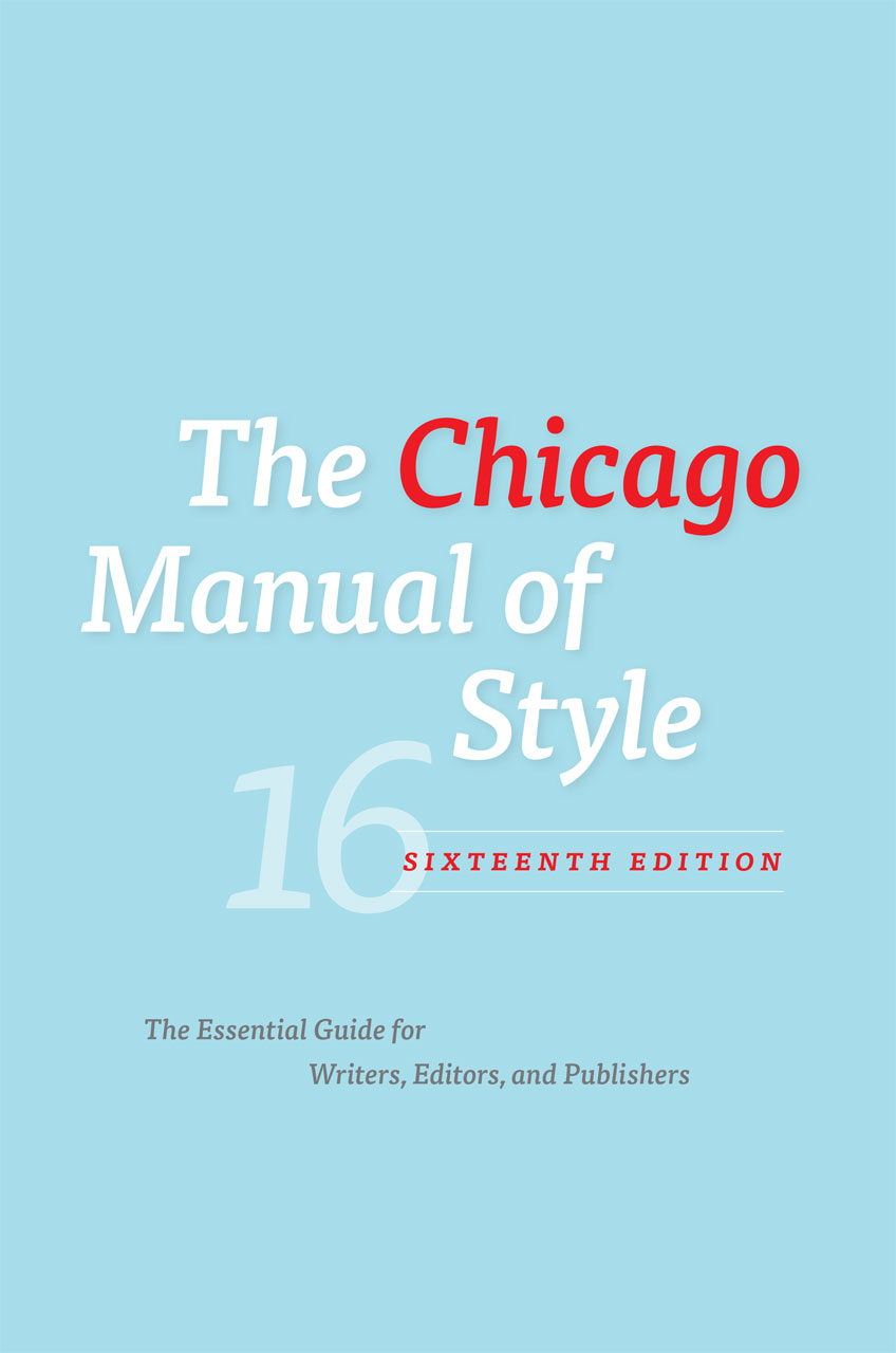 Chicago Manual cover