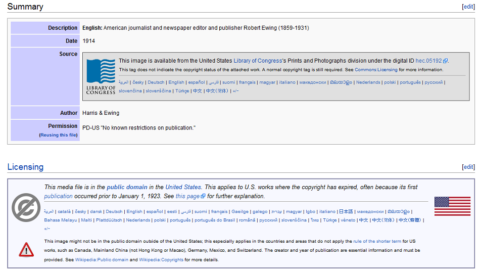 wikimedia commons image summary