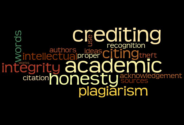 Image of academic integrity using Wordle