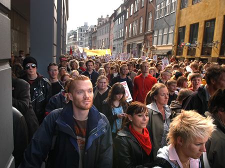Crowds in a street