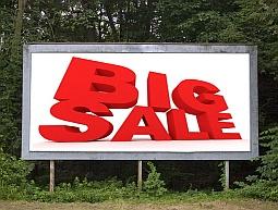 billboard saying Big Sale