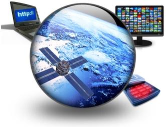 Communication devices: satellite, TV, computer