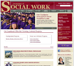 Screen Shot of JMU Social Work Department Website.