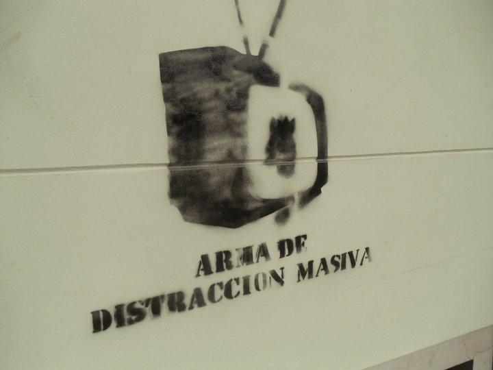 """""""Arma de distracción masiva,"""" Santiago, Chile (July 2011). Source: Lisa Gardinier."""