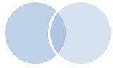 two circles - only the area common to both is colored